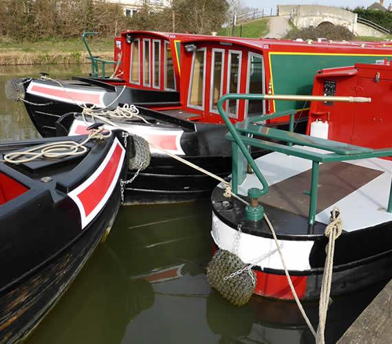 Boats moored at Hilperton Marina